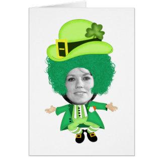 La plantilla irlandesa del día del St Patricks, Tarjeta De Felicitación