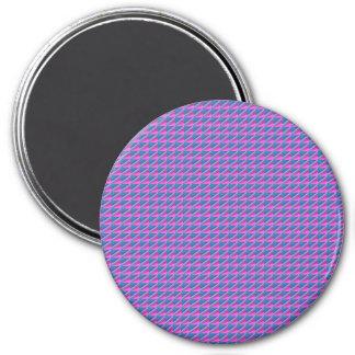 La plantilla púrpura azul de las texturas añade imán redondo 7 cm