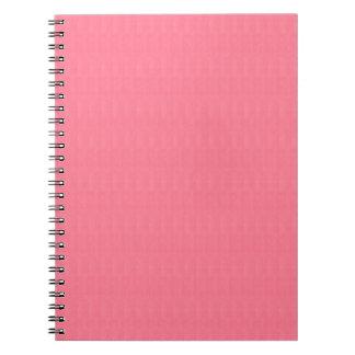 La plantilla rosada en blanco de la textura diy libros de apuntes con espiral