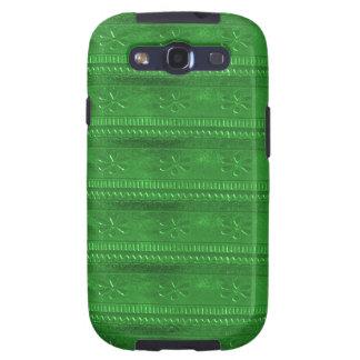 La plantilla verde DIY de los SORTEOS del fiesta Samsung Galaxy S3 Fundas