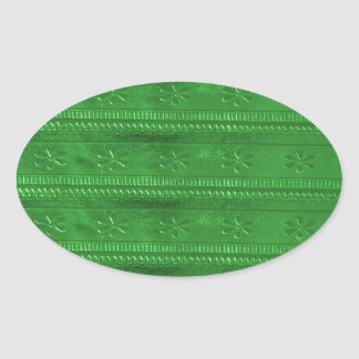La plantilla verde DIY de los SORTEOS del fiesta Pegatina Ovalada