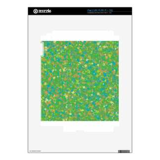 La PLANTILLA verde elegante del confeti añade la Calcomanía Para iPad 2