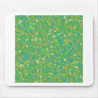 La PLANTILLA verde elegante del confeti añade la Tapete De Raton