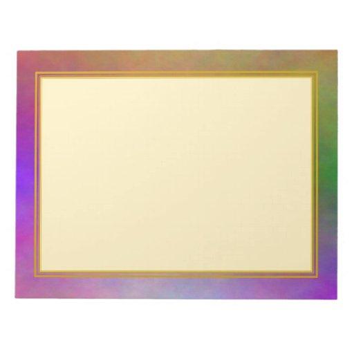 "La ""plasma púrpura sin forro se nubla"" los cuadern blocs de papel"