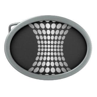 La plata abstracta puntea la hebilla del cinturón hebilla cinturón oval