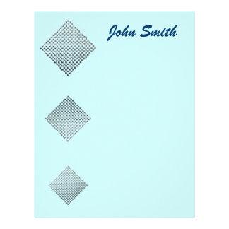 La plata ajusta la plantilla del papel con membretes personalizados