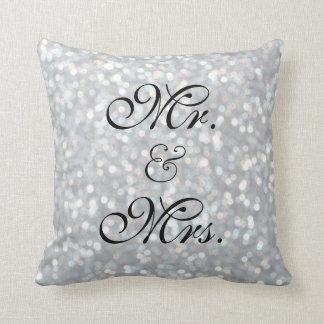 La plata chispea almohada de la tabla del amor cojín decorativo