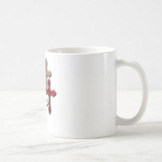 La plata cruza diversos diseños del collage taza