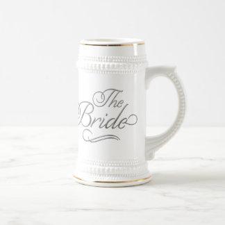 La plata de la taza de cerveza de la luna de miel