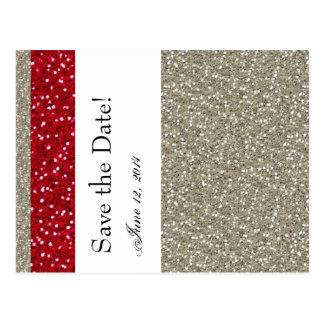 La plata de lujo y el rojo ahorran la fecha postal
