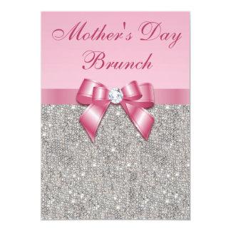 """La plata del brunch del día de madre Jewels el Invitación 5"""" X 7"""""""