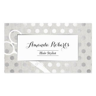 La plata elegante del estilista puntea el lino tarjetas de visita