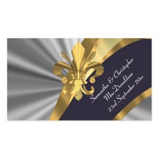 La plata, favor del boda del oro le agradece tarjetas de visita
