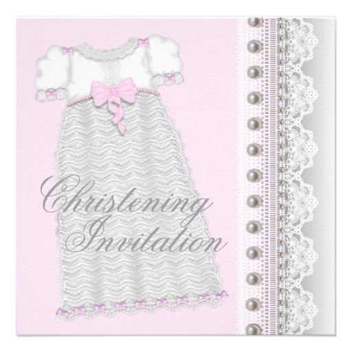 La plata gotea bautizo del rosa de la niña del ves invitacion personal