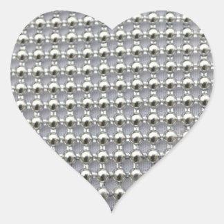 La plata gotea el modelo pegatina en forma de corazón