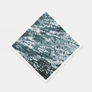 La plata hermosa chispea las burbujas congeladas servilletas de papel