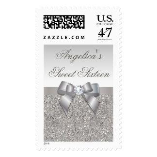 La plata Jewels el falso dulce dieciséis del arco Sello Postal