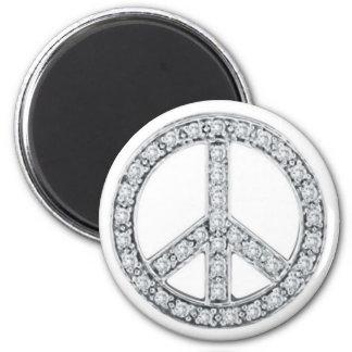 La plata Jewels el signo de la paz Imán Redondo 5 Cm
