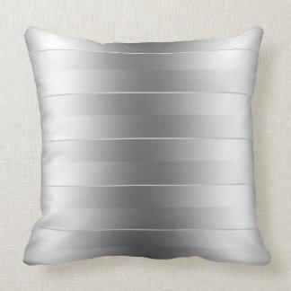 La plata moderna raya el modelo cojin