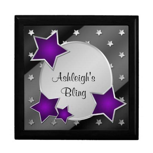 La plata negra púrpura personalizada protagoniza l cajas de regalo