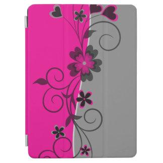 La plata negra rosada swirly florece y los cubierta de iPad air