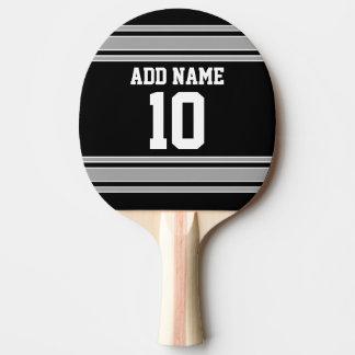 La plata negra se divierte el jersey con su nombre pala de ping pong