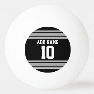 La plata negra se divierte el jersey con su nombre pelota de ping pong