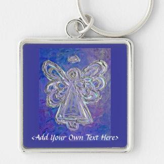 La plata púrpura del ángel se va volando el texto llavero personalizado