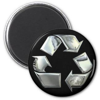 La plata recicla símbolo imán de nevera