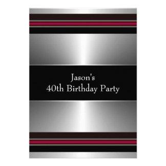 La plata roja negra sirve a la 40.a fiesta de cump anuncios personalizados
