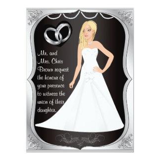 La plata suena la invitación del boda del negro