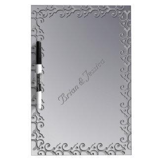 La plata tonal de la elegancia de encargo seca al  pizarras blancas de calidad