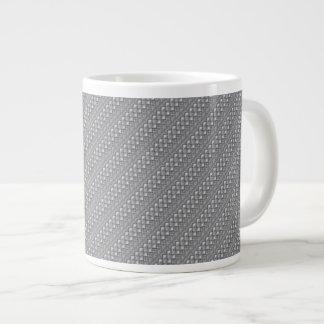 La plata trenzada raya la taza enorme taza grande