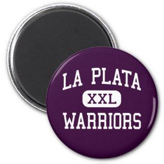 La Plata - Warriors - High - La Plata Maryland 2 Inch Round Magnet