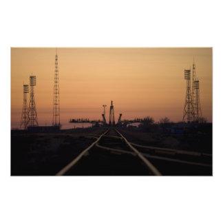 La plataforma de lanzamiento de Soyuz Foto