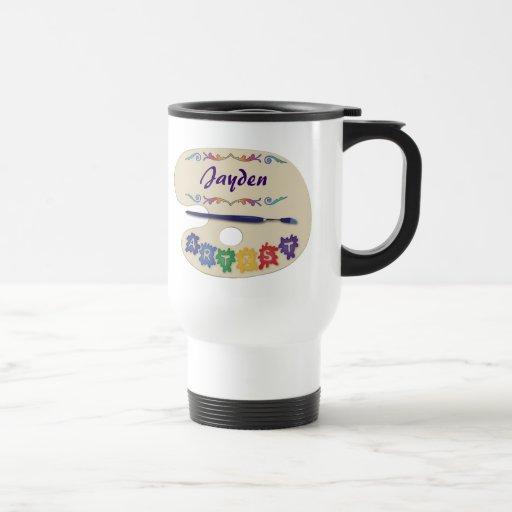 La plataforma del artista tazas de café