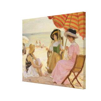 La playa, 1929 impresión en lona estirada