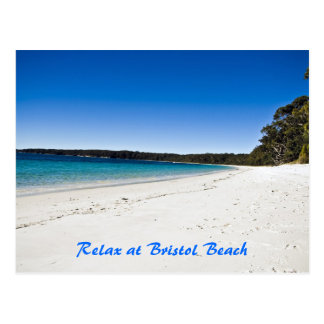 La playa 1 de Bristol, se relaja en la playa de Br Postal