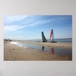 La playa aan holandesa de Egmond Zee puede 2010 Póster