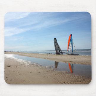 La playa aan holandesa de Egmond Zee puede 2010 Mousepad
