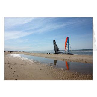 La playa aan holandesa de Egmond Zee puede 2010 Tarjeta De Felicitación
