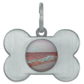 la playa agita el fondo rojo de la costa de la placas mascota