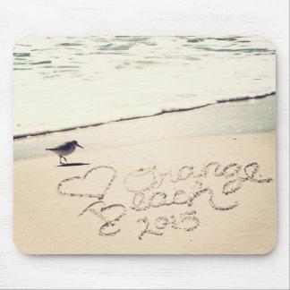 La playa anaranjada de Alabama Sandwriting de la Alfombrilla De Ratones