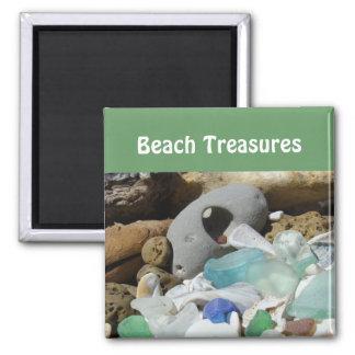 La playa atesora los fósiles de cristal de los sea
