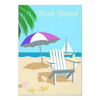 """La playa bendecida invita invitación 3.5"""" x 5"""""""