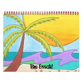 ¡La playa! Calendario