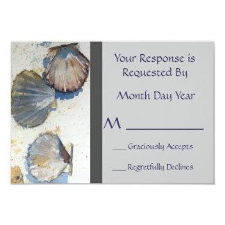 La playa caprichosa descasca la tarjeta de invitación 8,9 x 12,7 cm