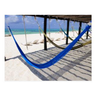 La playa colorida cuelga la postal de Cozumel de u
