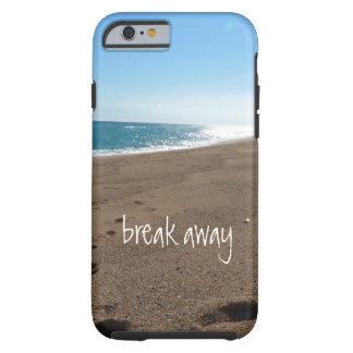 La playa con rompe lejos cita funda de iPhone 6 tough