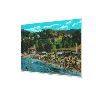 La playa de baño en Avalon, isla de Catalina Impresiones En Lona Estiradas